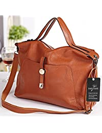 8d6b9ffbab03 SAKUTANE Women s Real Genuine Leather Portable Shoulder Bag Cross Body Bags