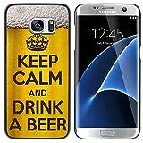 FJCases Bière Alcool Froid Coque Étui Cache Housse de Protection Fine et Rigide pour Samsung Galaxy S7 Edge