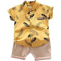 Hopscotch Applique Printed Half Sleeves Shirt and Shorts Set for Boys