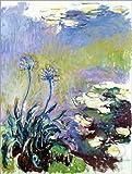 Posterlounge Acrylglasbild 120 x 160 cm: Der Agapanthus von Claude Monet/Bridgeman Images - Wandbild, Acryl Glasbild, Druck auf Acryl Glas Bild