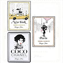fashion cities of the world, fashion eye, fashion icon by megan hess 3 books collection set - new york, paris, coco chanel