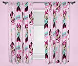 Character world 54-Inch Disney Minnie Mouse Handmade Curtains, Multi-Colour