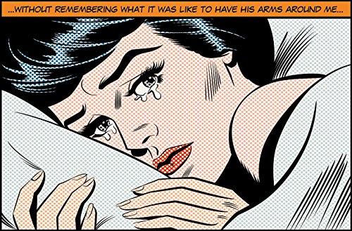 Fototapete CRYING WOMAN 175x115 Comic Sequenz im Marvel Style, Roy Lichtenstein