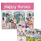 Horses Create your Happy Stickerbuch # 10176