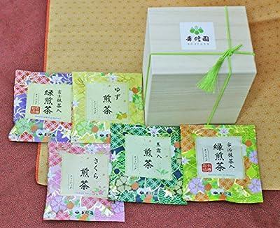 Assortiment de 5 Sencha premium (2 senchas BIO) - KOSYUEN - Thé vert japonais - 10 sachets