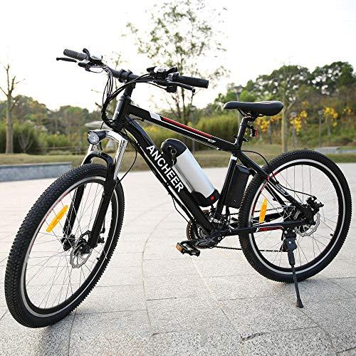 """grapest mountain bike Bicicletta elettrico E-Bike 250W 26"""" 35 km/h Shimano 21 + Batteria 36V*12A* di alluminio LG Staccabile Removibile"""