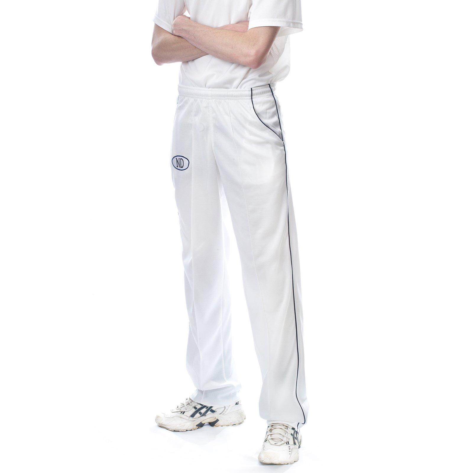 New only-cricket Playing pantaloni bianchi in flanella Match pantaloni