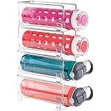 mDesign flaskhållare – stapelbar hylla för vattenflaskor och vinflaskor – flaskhållare för köksskåp, hyllor eller bänkskivor,