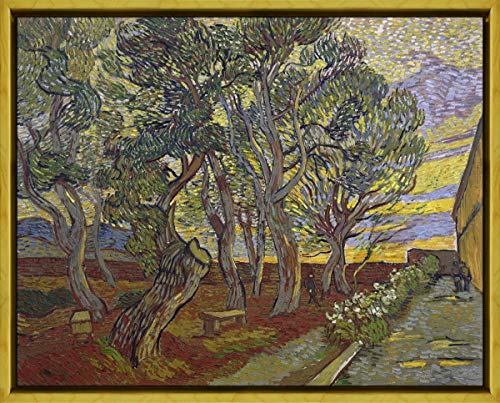Berkin Arts Rahmen Vincent Van Gogh Giclée Leinwand Prints Gemälde Poster Wohnkultur Reproduktion(Der Garten des Asyls) #XLK -