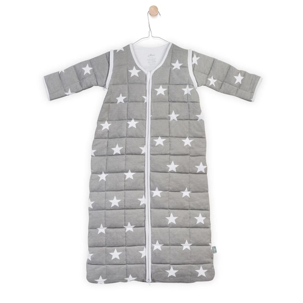 Jollein 016–541–64966Saco de dormir para las 4estaciones para Little Star con mangas desmontables, 90cm, Gris