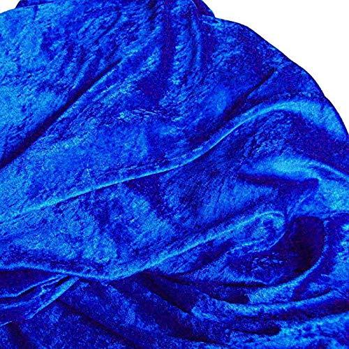 TOLKO Stoff-Ballen  10m  Pannesamt Stoffpaket - Dekostoff zum Nähen und Dekorieren (10 m x 150 cm, Royal-Blau)