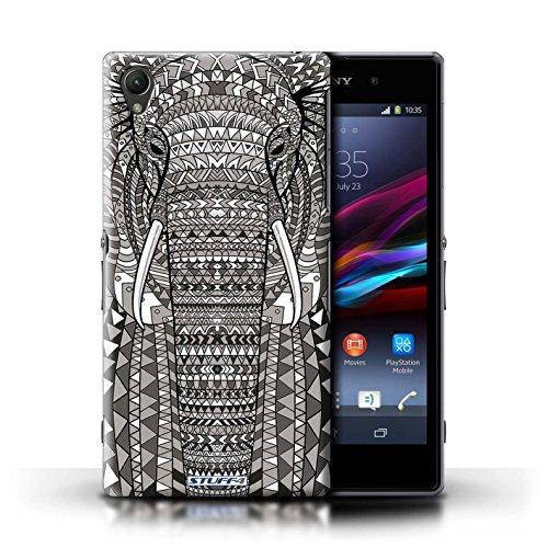 Coque en plastique pour Sony Xperia Z1 Collection Motif Animaux Aztec - Hibou-Mono éléphant-Mono