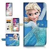 (pour iPhone X) Portefeuille Flip Coque protecteur d'écran et Bundle. A40430la Reine des neiges Elsa