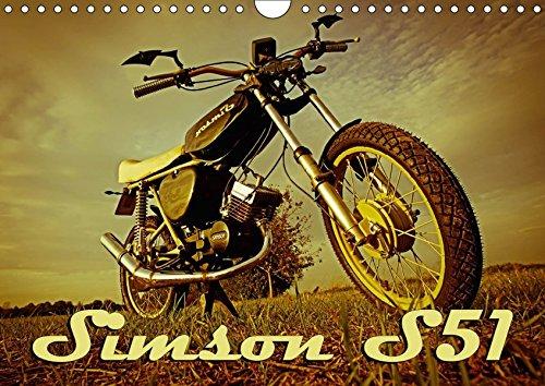 Simson S51 (Wandkalender 2017 DIN A4 quer): Simson S51 Wandkalender, 13 Seiten (Geburtstagskalender, 14 Seiten) (CALVENDO Spass)