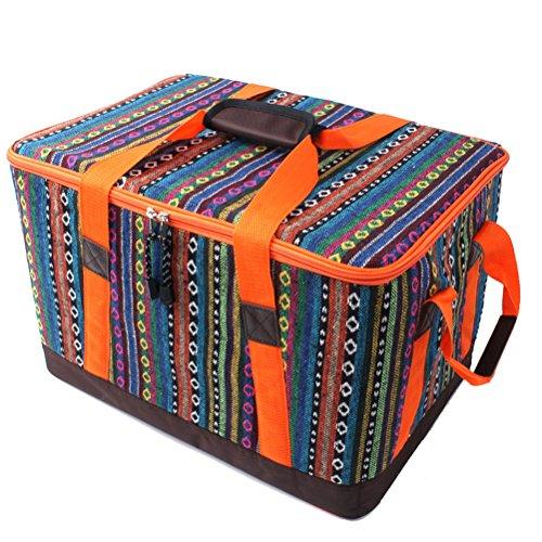 ycbwb Outdoor Picknick Tasche Ausrüstung Outdoor/Tragbare Faltbare Picknick-Tool Kits Isolierung Aufbewahrungsbox (Größe: 45 X 31 X 29 Cm) von SHOME (Picknick-kit)
