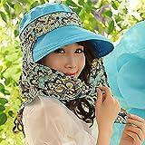 SAIBANGZI Sommer Hut Sonnenhut Sonnenschutz Außen-Markise Sonnenschutz winddicht Falten Radfahren Outdoor Hut. Uniform Code Reißverschluss-Kong Lan