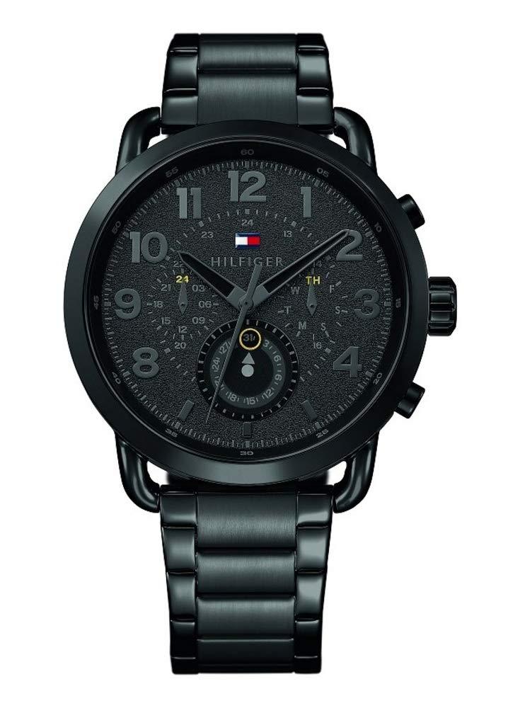 Tommy Hilfiger Herren Multi Zifferblatt Quarz Uhr mit Edelstahl Armband 1791423