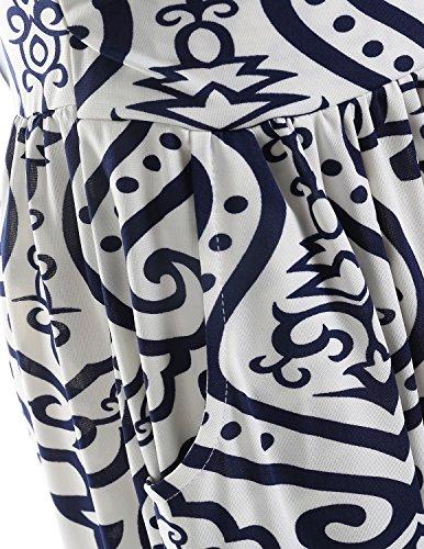 CARINACOCO Damen Bandeau Bustier Kleider mit Blüte Drucken Lange Sommerkleid Abendkleid Partykleid Cocktailkleid Geblümt11