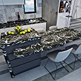 HANMERO® Papel pintado autoadhesivo imitación ladrillo piedras para muebles vinilos pegatinas de pared para Cocina / escritorio /puerta/armario, color negro