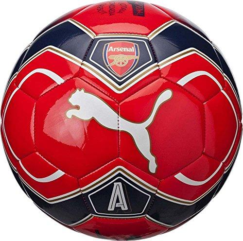 Puma - Balón de fútbol del equipo Arsenal para fanáticos, unisex, Otoño-invierno, color High Risk Red/Puma White/Peacoat, tamaño 5