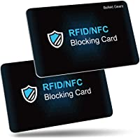 RFID/NFC Blocking Card by Befekt Gears [2 Pack], Credit Card Protector, Contactless Cards Protection for Credit cards…