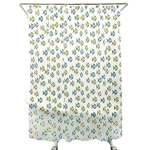 EVARideaux/Imperméable rembourrée rideau de douche de salle de bain moisissure/ tissu de Rideau douche/ rideaux de partition/Poissons tropicaux de rideau de douche-C