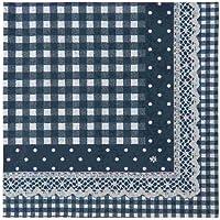 FB73BL Clayre & Eef -Flower Basket - 20 tovaglioli di carta - Blu ca. 33 x 33 cm
