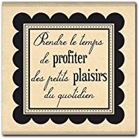 Florilèges Design FB111032 Tampon Scrapbooking Plaisir Quotidien Beige 4 x 4 x 2,5 cm