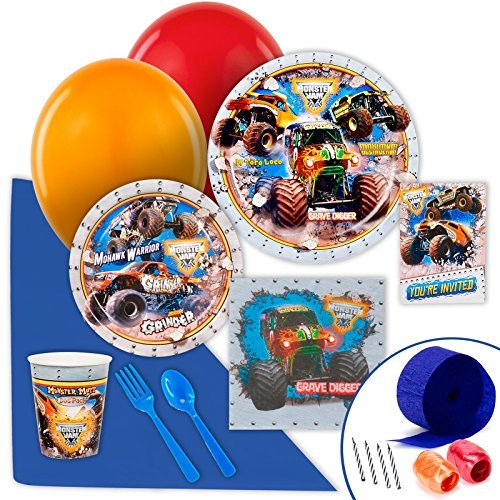 Monster Jam Party Supplies - Value Party Pack by BirthdayExpress (Monster Party Supplies Jam)
