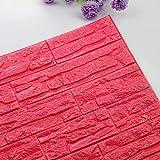 Etiqueta de la pared de BaZhaHei, DIY 3D ladrillo PE espuma Wallpaper Panels Room Decal Stone decoración en relieve del Adhesivo de pared de ladrillo 3D autoadhesivo hogar cocina decoración pegatinas