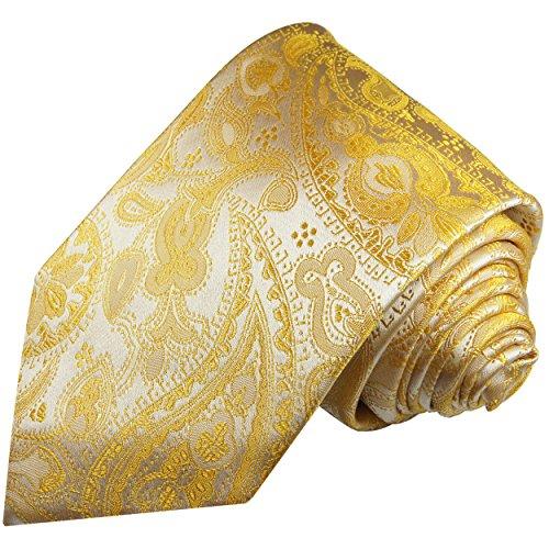 Cravate homme jaune paisley 100% soie
