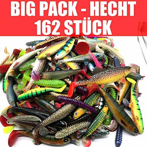 Jackson Gummif. Kunstköder XXXL Set Profi - Hecht Angeln 12,5-18cm - 162 STÜCK