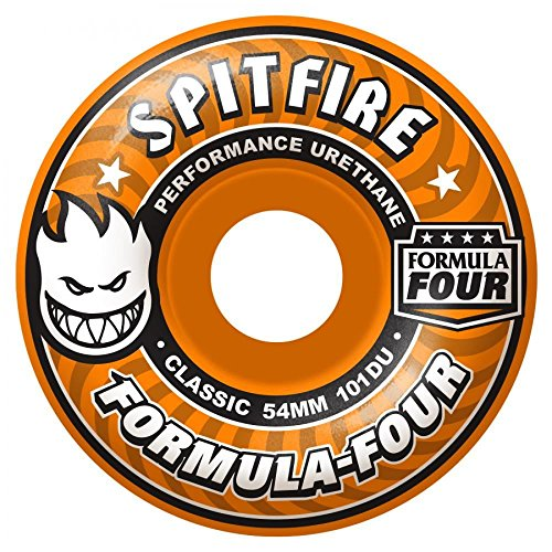 spitfire-formula-four-agent-orange-skateboard-wheels-101d-54-mm
