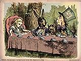 onthewall Alice au Pays des Merveilles Tea Party Vintage Art Print Poster 40x 30cm (PDP 078)