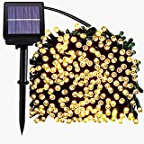 Home Garden Best Deals - 200 LED Solar String Lights, Waterproof Outdoor Fairy lighting for Christmas, Home, Garden, Yard, Patio, Porch, Tree, Party, Holiday Decoration - Warm White, 72FT, 8-in-1 Mode