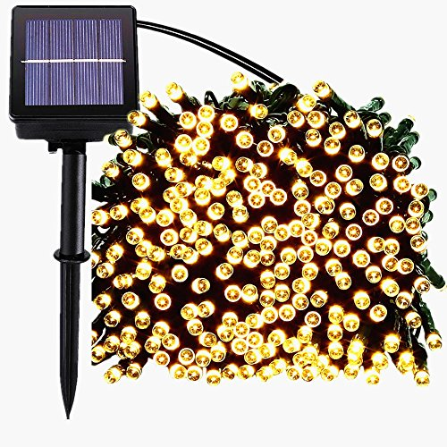 led solar lichterkette 200er 22m 8 modes garten au en licht warmwei weih led t054 magiclux tech. Black Bedroom Furniture Sets. Home Design Ideas