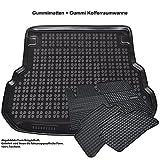 AME Automatten-Experts 0691EL-231139KW 5-teiliges Sonderset: Auto-Gummimatten mit 1cm Rand + Gummiwanne