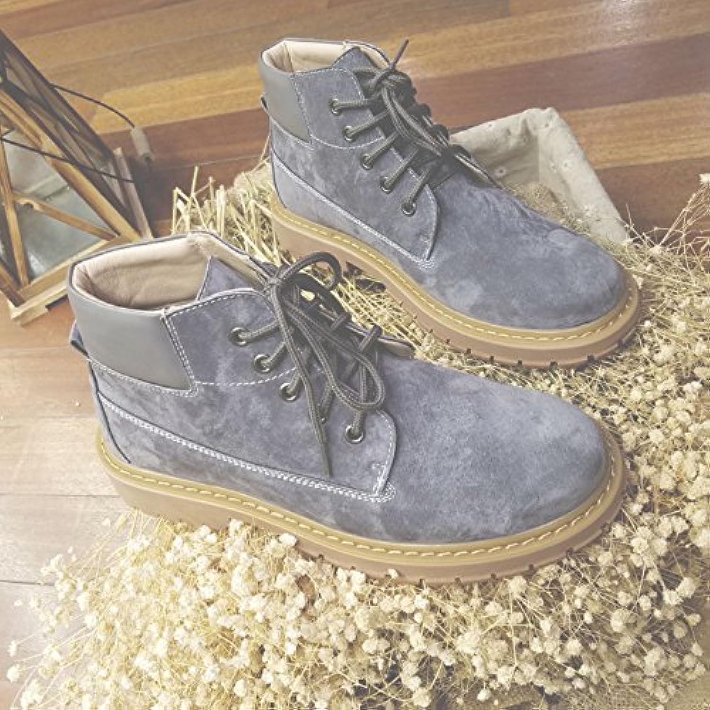 HL-PYL-calzado chino Martin botas para ayudar a British Retro botas botas de trabajo,41,gris