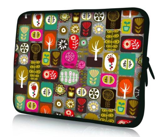 Luxburg® Design Laptoptasche Notebooktasche Tablet PC eBook Reader Tasche bis 8,1 Zoll, Motiv: Patchwork