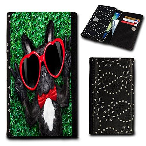 Strass Book Style Flip Handy Tasche Case Schutz Hülle Foto Schale Motiv Etui für Huawei Ascend G6 - Flip SU3 Design10
