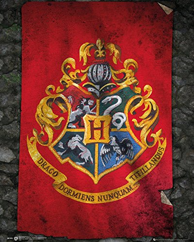 GB Eye, Harry Potter, Hogwarts Bandera, Mini poster, 40 x 50 cm