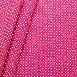 Baumwollstoff beschichtet Punkte Stoff Meterware Pink