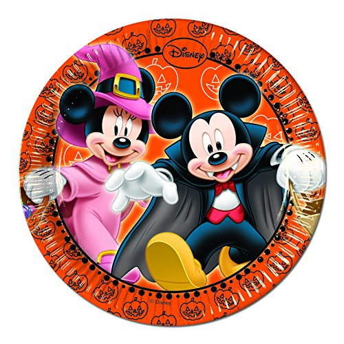 20 cm Mickey Mouse Halloween Party Teller, 8 Stück (Halloween-dekoration Mickey)
