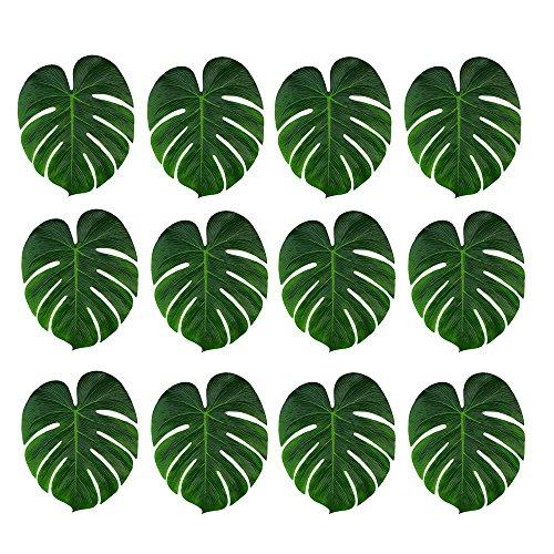 24 stücke 35x29 cm Künstliche Tropische Palmblättern für Tropical Party Dekorationen Hochzeit Hawaiian Halloween Tisch Dekoration
