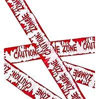 WIDMANN–Cinta Barricata Caution Zombie Zone Unisex-Adult, rojo, talla única, vd-wdm51896