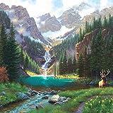SunsOut 52982 - Keathley: Elch am Wasserfall - 1000 Teile Quadratpuzzle