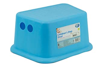 Kids Toddler Step Stool With Rubber Grips Sink Basin Potty Training   BLUE