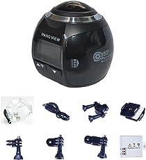 Mini 360 Grad Panorama Kamera 3D VR Live Video Vollansicht Aktion Sport Kamera 220 Weitwinkel wasserdichte DV HD 2448P Drahtlose Wifi 30fps 16MP DV Camcorder