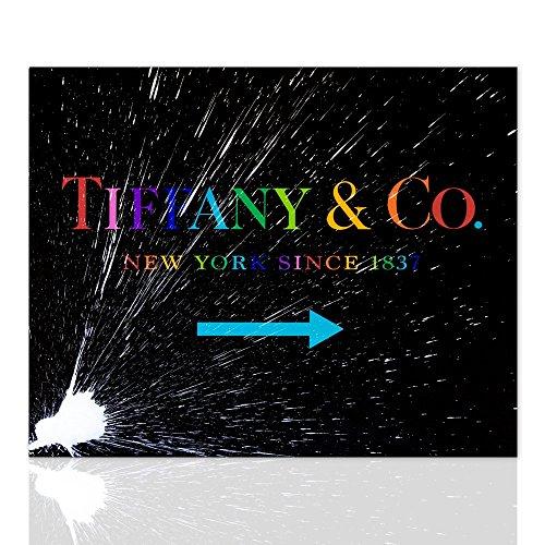 Malerei auf Leinwand Tiffany New York seit 1837 Multicolor - Leinwand Interieur Malerei auf Leinwand fertig zum Aufhängen handgefertigt - Moderne Dekoration in verschiedenen Größen erhältlich - Declea