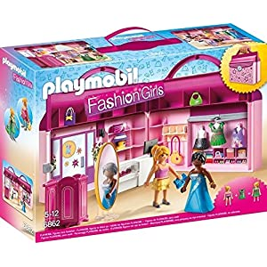 Playmobil 6862 Fashion Girls Take Along Fashion Boutique with Changeable Clothing